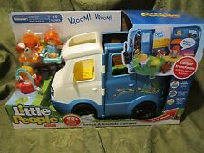 Fisher Price Little People Going Camping Songs Sounds Camper fishing boat dog