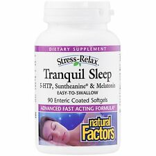 STRESS RELAX TRANQUIL SLEEP. 90 SOFT GELS. FACTORY SEALED. EXPIRES JULY 2018