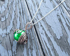 Green Materia, FF7 Necklace, Final Fantasy, Final Fantasy 7, Wrapped Necklace