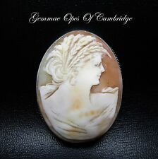 Silver Cameo Brooch 48.5mm x 37mm 14.2g
