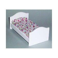 12th Scale Child's White Bed For Dolls Houses