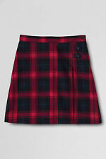 New LANDS END Juniors Red Blue Plaid School Uniform A-Line Skirt Size 5