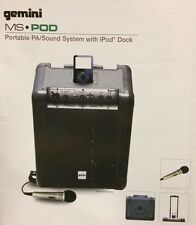 Gemini MS-POD Portable PA System with Intergrated iPod Dock