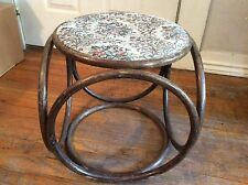 VINTAGE MID CENTURY MODERN THONET STYLE STOOL RETRO MOD SIDE TABLE BENTWOOD