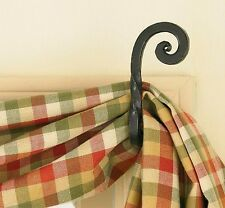Forged Scroll Curtain Hook Set by Park Designs - Forged Iron Curtain Hooks
