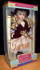 """Classic Treasures Special Edition Collectible 16"""" Fine Bisque Porcelain Doll"""