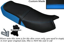 LIGHT BLUE & BLACK CUSTOM FITS HONDA CB 250 RS DUAL LEATHER SEAT COVER ONLY
