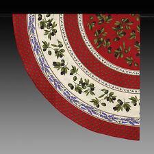 Tischdecke, Rund Rot mit Lavendel und Oliven180 cm Provence NEU 100 % Baumwolle