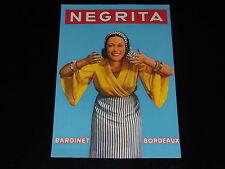 PUBLICITE - RHUM NEGRITA - BORDEAUX  - PRESSE - 1937 - ADVERTISING