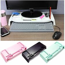 Monitor Stand LED LCD Cradle Desk organizer Office Computer storage pink mint