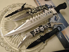 Tomahawk Wicked Fantasy Bowie & 2 Assisted 2 Manual Open Knife/Knives 5 Pc Set