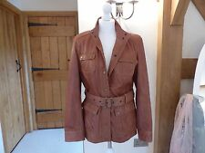 Boden tan brown leather jacket size 12