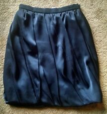 Prada Black Satin Bubble Mini Skirt, NWT $1435 Size 40/US 6