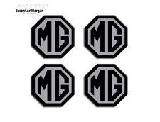 MG ZT Wheel Centre Caps Badges 01-05 Year Hub Cap badges In Black & Silver 45mm