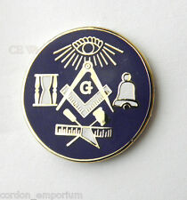 QUALITY FREE MASONS MASONIC TOOLS MASON LAPEL PIN BADGE 1 INCH
