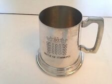 FABULOUS HOUSE OF COMMOMS 1 PINT PEWTER TANKARD