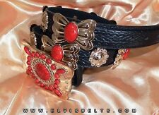 Elvis Style Red and Gold Navajo Western Concho Belt