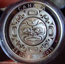*HOT ITEM* CANADA Fine Silver Ultra High Relief 3-Coin Set Singing Moon Mask