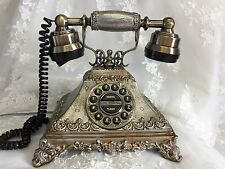 ELEGANT Victorian-French Style Touch Button Telephone (Rare 1920's Replica)