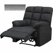 Gray Grey Microfiber Recliner Wall Hugger Lazy Chair Furniture Living Room Boy