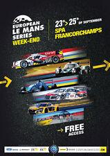 Programme European Le Mans series spa-Francorchamps 2016 Elms