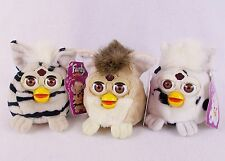 "Rare Vintage Lot of 3 Furby Buddies 5"" Bean Bag Plush Dolls with Tags 1999 Tiger"