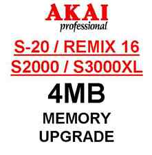 AKAI S20 - 4MB Sample Memory Upgrade. Remix 16 S2000 S3000XL CD3000XL S3200XL