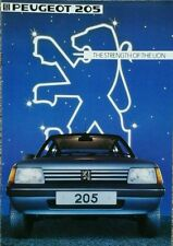 Peugeot 205 Sales Brochure - September 1983 #