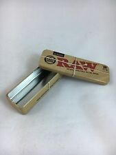 RAW King Size Slim Roll Caddy Authentic Metal Rolling Cigarette Tin Case papers