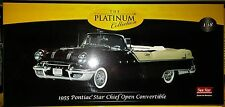 1955 PONTIAC STAR CHIEF OPEN Diecast 10 inch SUNSTAR 1:18 PLATINUM SS 5056 BLACK