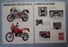 MOTOSPRINT989-PUBBLICITA'/ADVERTISING-1989- GILERA SP01 E RC TOP RALLY (B)