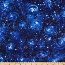 Tessuto Stelle Galassia Cielo Notturno Fat Quarter Cotton Craft Quilting-Robert Kaufman