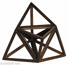 Elevated Tetrahedron 3D Geometric Ether Wooden Model by Authentic Models AR037