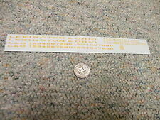 """Herald King decals O Lexington and Ohio passenger 6"""" 3"""" letters yellow ochre XX3"""