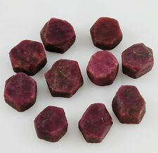 RUBY 1 Hexagonal Natural Crystal 4.5-5.5 grams ea India w/ Healing Property Card