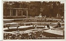 Sussex Postcard - Denton Gardens Fountain - Worthing - Real Photograph  V1915