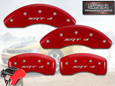 "2003-2005 Dodge Neon ""SRT-4"" Front + Rear Red MGP Brake Disc Caliper Covers 4p"
