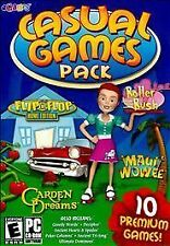 Video Game PC Casual 10 Games Pack Garden Dreams Roller Rush Maui Wowee Dominoes
