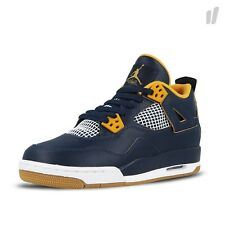 2016 Nike Air Jordan 4 IV Retro BG SZ 6.5Y Dunk From Above Navy Gold 408452-425