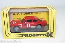 PROGETTO K 044 ALFA ROMEO GIULIA GTA MONZA 1967 GIUNTI MINT BOXED