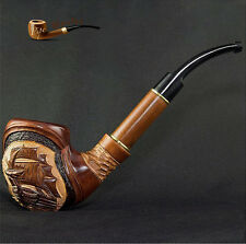 "HAND CARVED, EXCLUSIVE WOODEN  SMOKING PIPE   ""Ship  Large""    Made by Artisian"