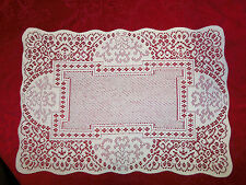 "N White lace Canterbury Classic design Table Doily/Placemat  19"" x 14"" set"