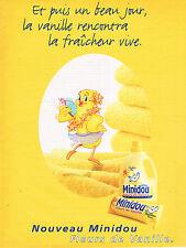 PUBLICITE ADVERTISING 045  1997  MINIDOU  assouplissant FLEUR DE VANILLE