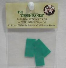 Elk Inc Green Bands Deluxe Cow Talk & Yote Howler Coyote Calls Replacements New