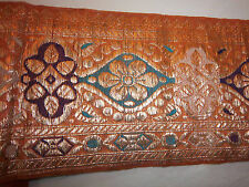 ANTIQUE VINTAGE RIBBON TRIM ZARI LACE BROCADE SARI BORDER - By The Yard