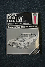 Ford and Mercury Full-Size, 1975-1987 No. 754 by Chaun Muir and John Haynes...