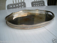 PLATEAU METAL ARGENTE A GALERIE TRAY(PLATEAU) SILVERY METAL HAS GALLERY