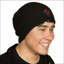 World of Warcraft Horde Black Beanie Cap Hat Costume Official Licensed NEW