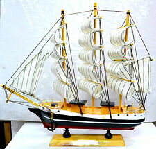 Sailor's III Wooden Sailing ship Vintage Showpiece |Nautical Gift |Height 23cm