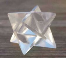 NATURAL CLEAR QUARTZ GEMSTONE MERKABA STAR (ONE) - BUY IT NOW